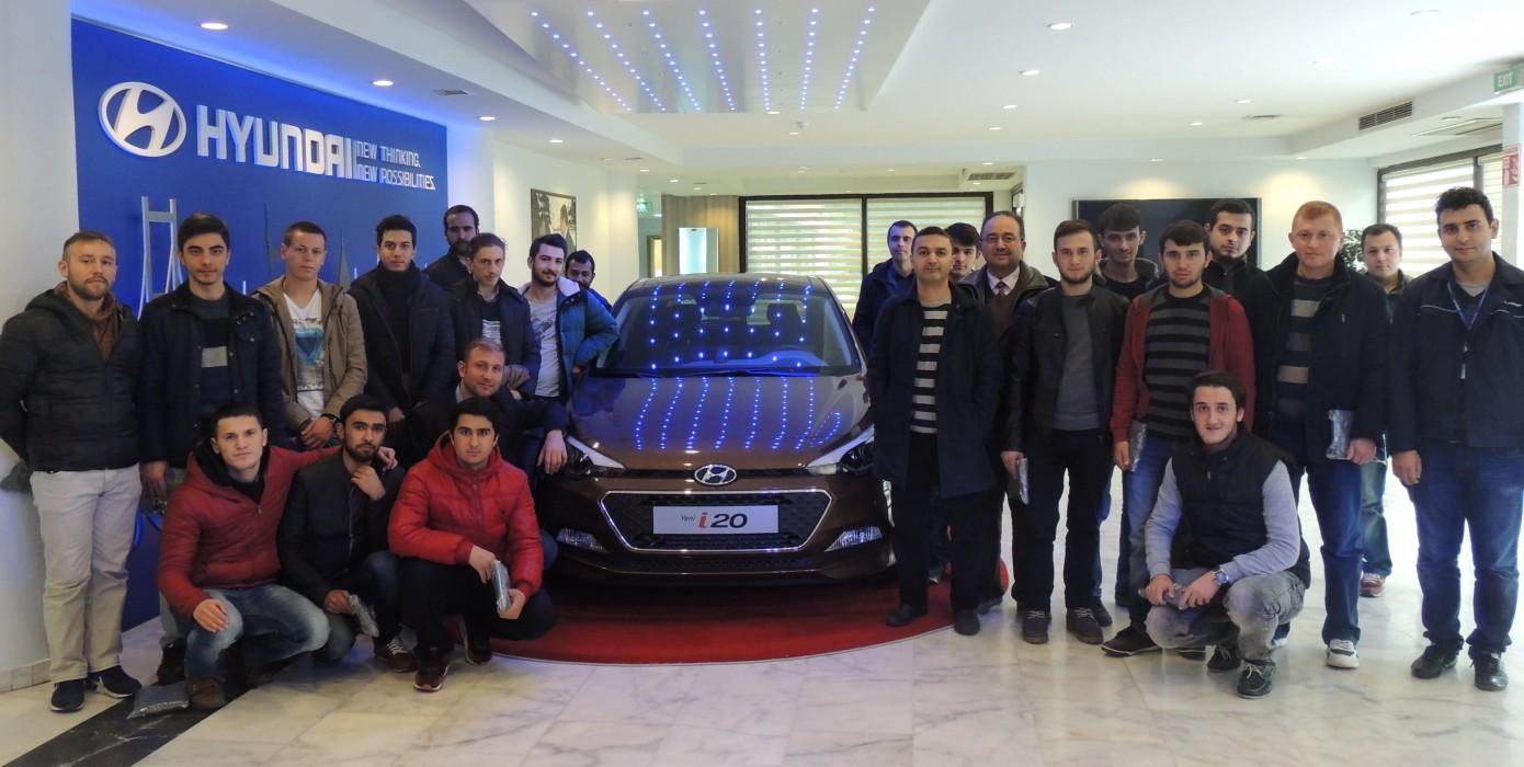 Motorlu Araçlar ve Ulaştırma Teknolojileri Bölümü Otomotiv Programı Öğrencilerine Hyundai Assan Fabrikasına Teknik Gezi Düzenlendi