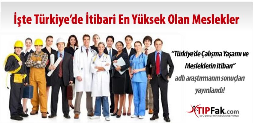 """""""Türkiye'de Çalışma Yaşamı ve Mesleklerin İtibarı"""" Araştırması """""""
