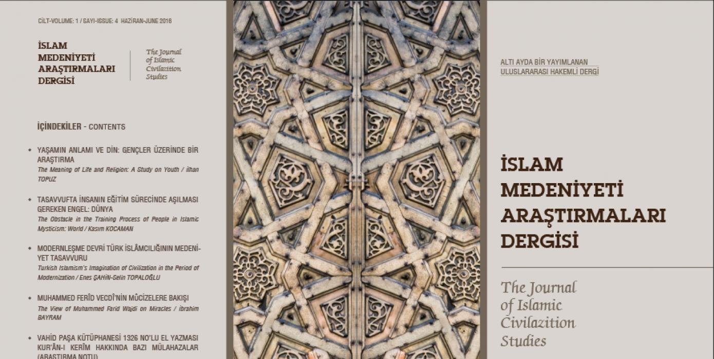 İslam Medeniyeti Araştırmaları Dergisi'nin (İmad) Dördüncü Sayısı Yayımlandı