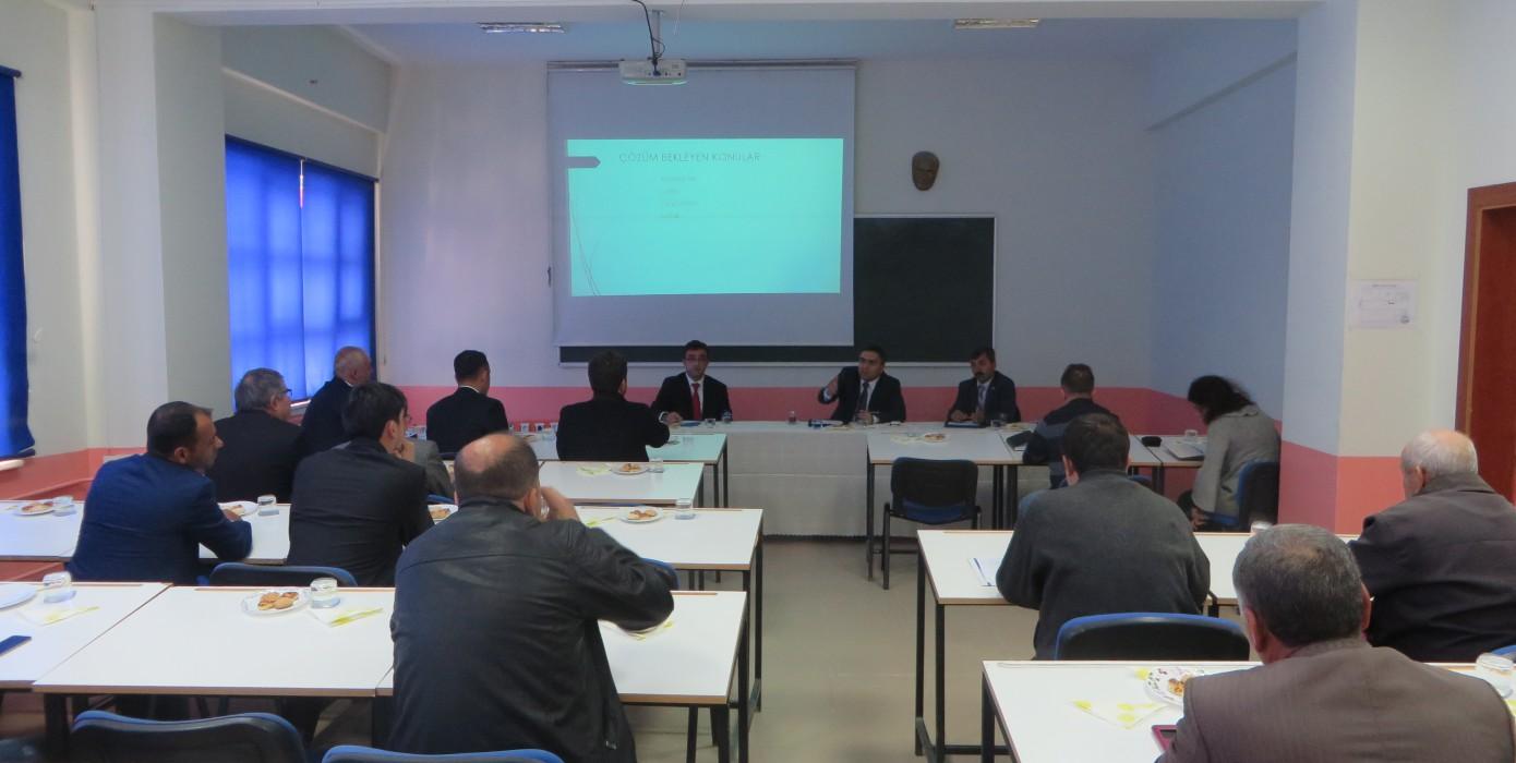 Pazarlar Meslek Yüksek Okulu'nda Geniş Katılımlı Toplantı