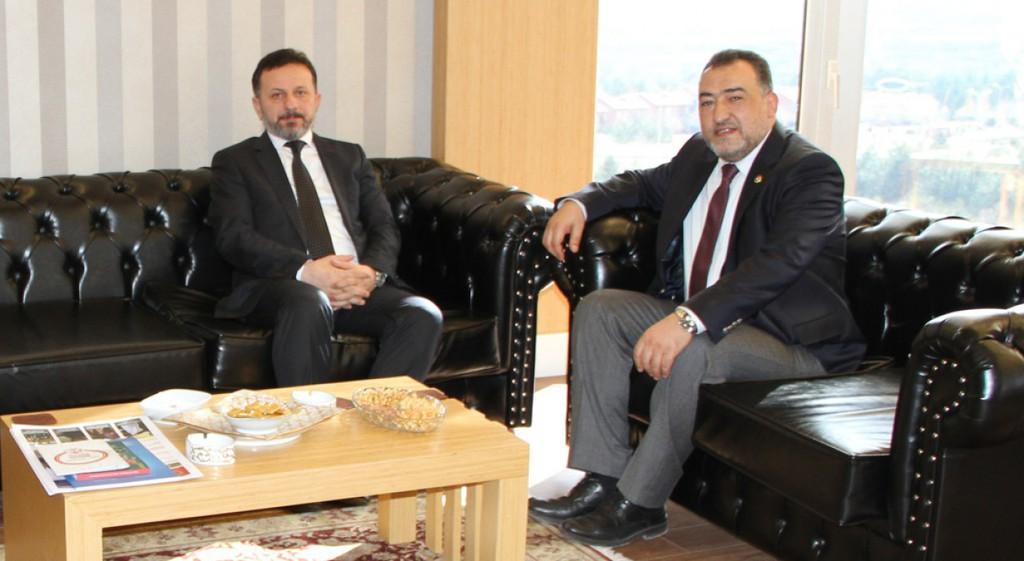 Kütahya Milletvekili Mustafa Şükrü Nazlı Rektörümüze Taziye Ziyaretinde Bulundu