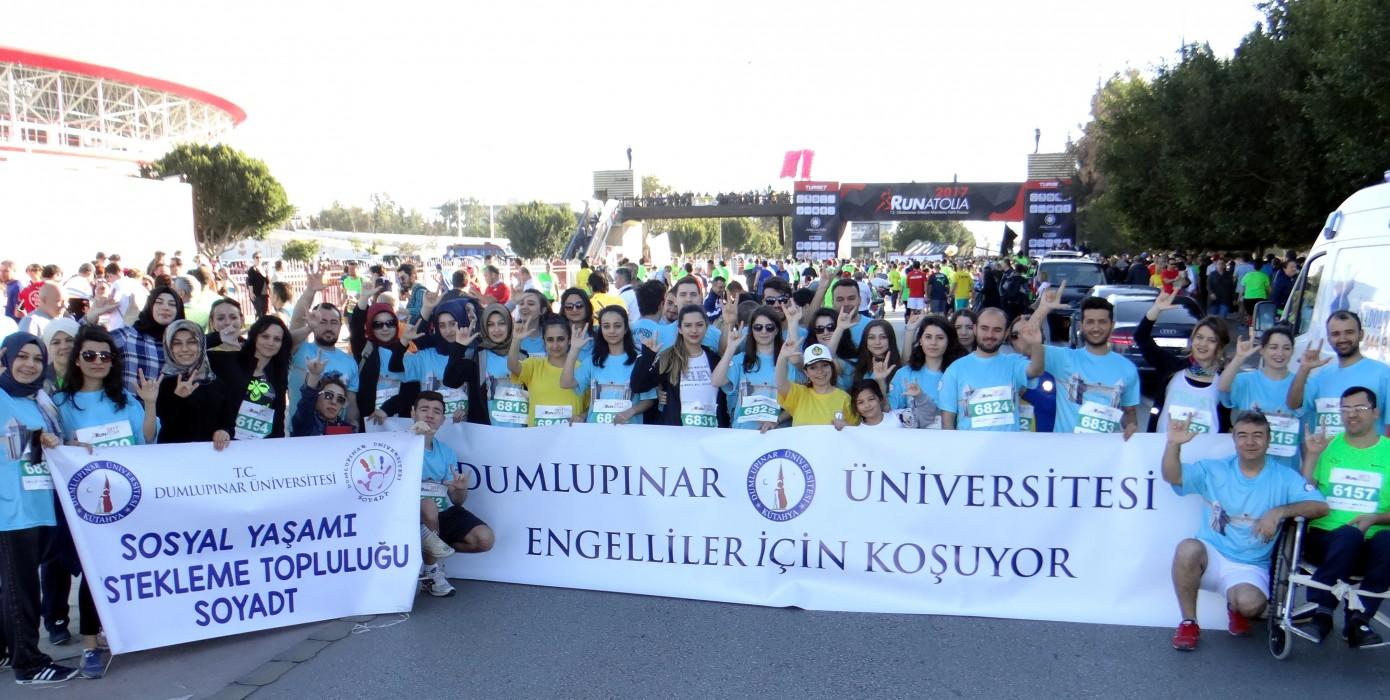 """Runatolia 2017 """"Dumlupınar Üniversitesi Engelliler İçin Koşuyor"""""""