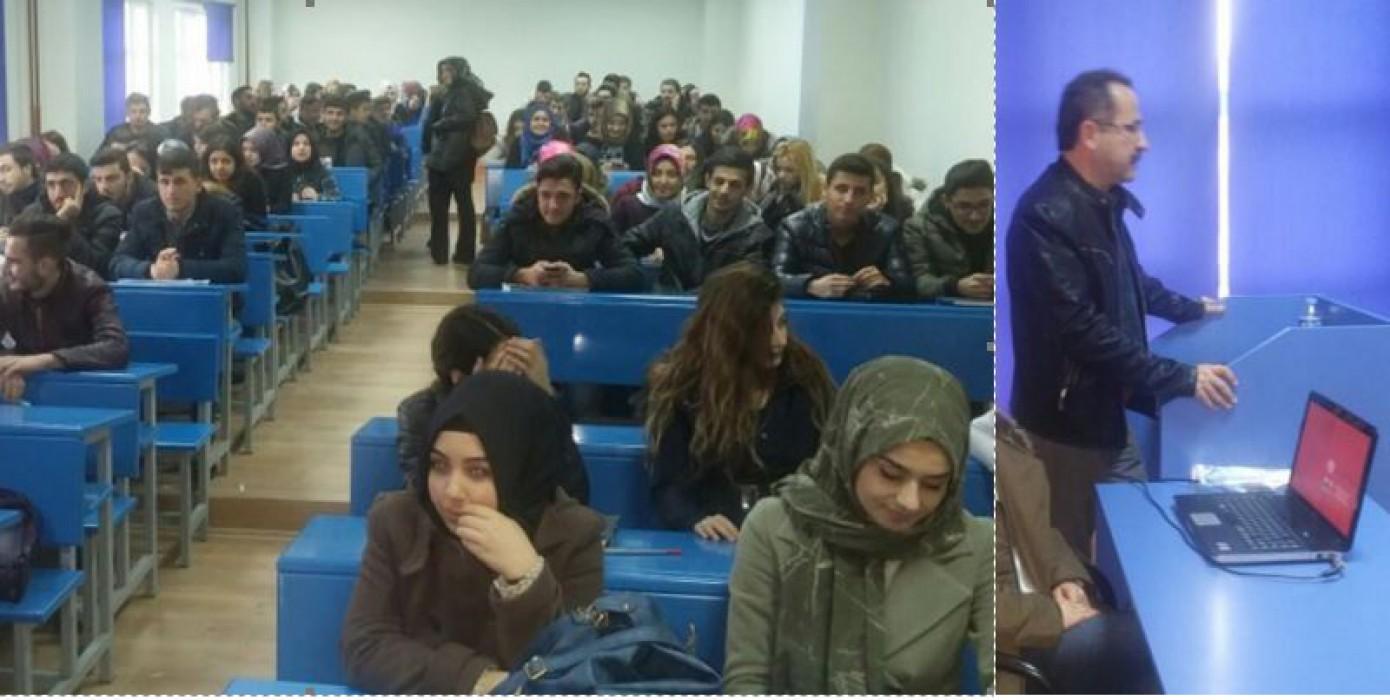 """Meslek Yüksekokulu Öğrencilerimize Yönelik """"Trafik Adabı"""" Semineri Düzenlendi."""