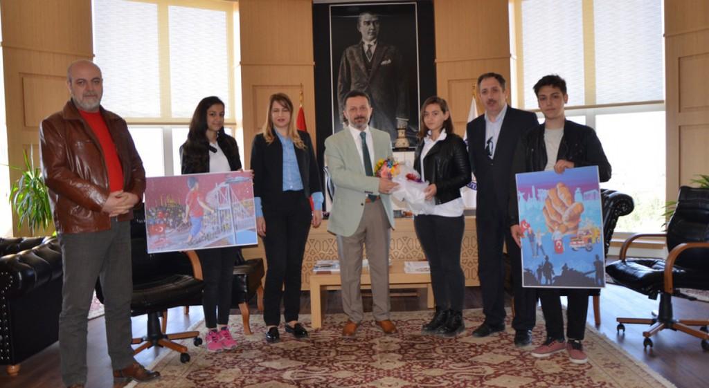 Ahmet Yakupoğlu Güzel Sanatlar Lisesi, Rektörümüzü Makamında Ziyaret Etti