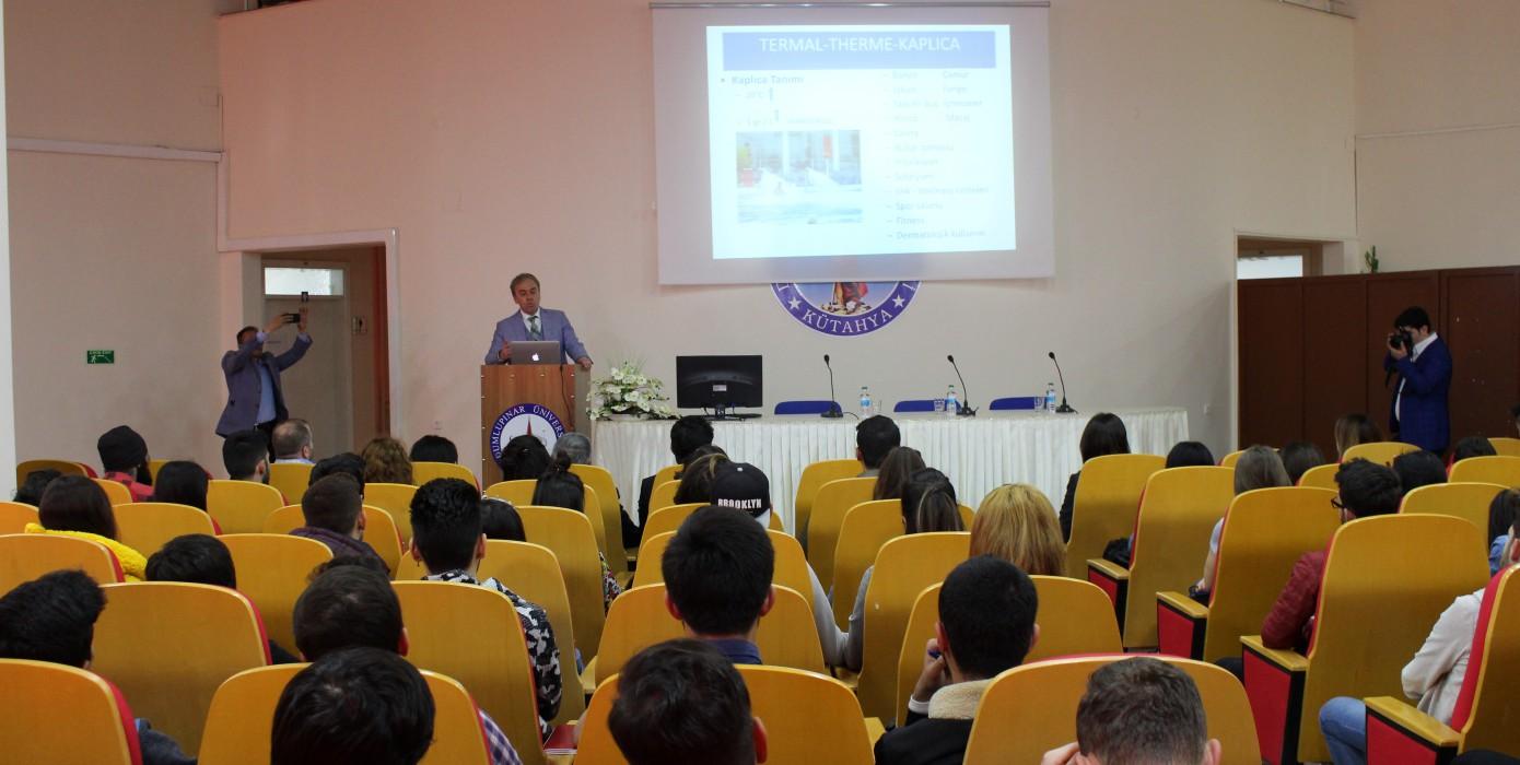 Kütahya Milletvekili ve TBMM Sağlık, Aile, Çalışma ve Sosyal İşler Komisyonu Başkanı Prof. Dr. Vural Kavuncu Yüksekokulumuzu Ziyarette Bulunarak Öğrencilerimize Sağlık Turizmi Hakkında Bilgiler Aktardı