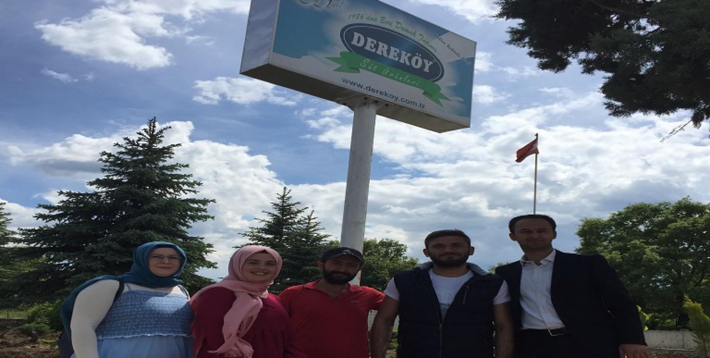 Dereköy Süt Ürünleri Tesisi'ne Teknik Gezi