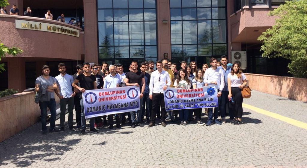 Domaniç Hayme Ana MYO Öğrencileri Ankara Milli Kütüphane'de