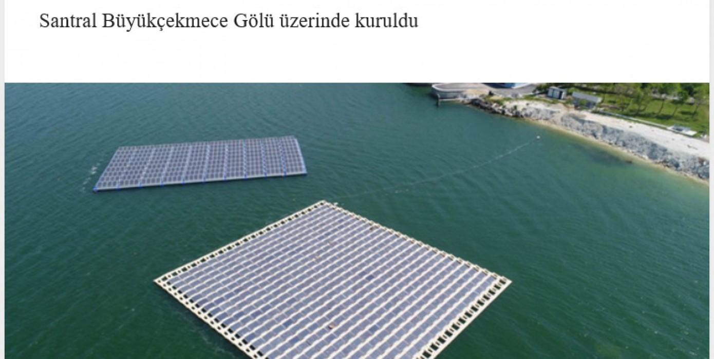 Türkiye'nin İlk Yüzer Güneş Enerjisi Santrali Devrede!