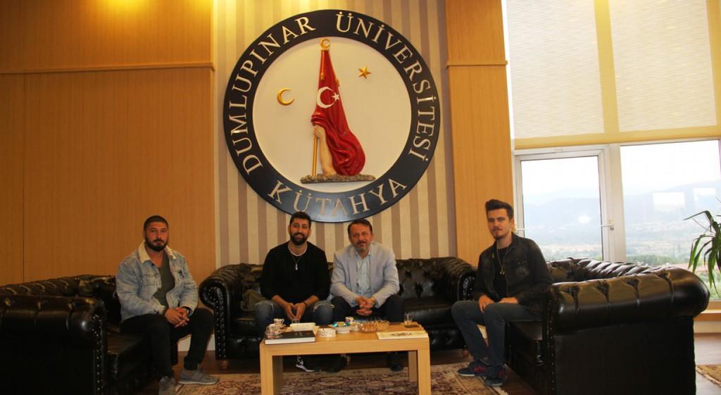 Rapçi Burak King, Rektörümüz Prof. Dr. Remzi Gören'i Ziyaret Etti