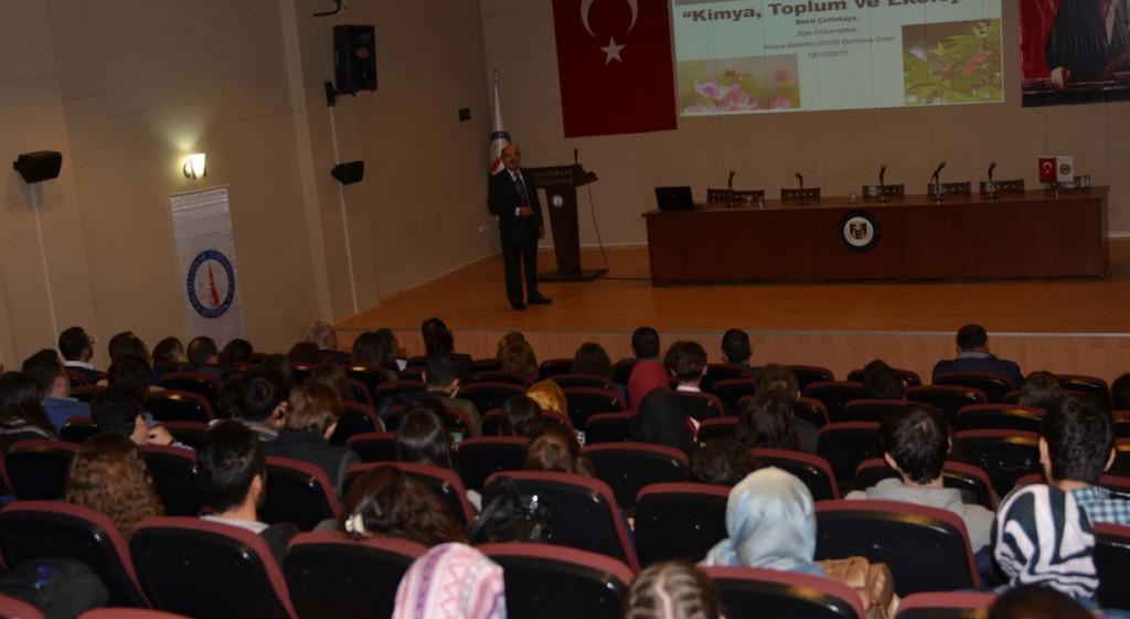 Kimya, Toplum ve Ekoloji İlişkisi Konferansı Düzenlendi
