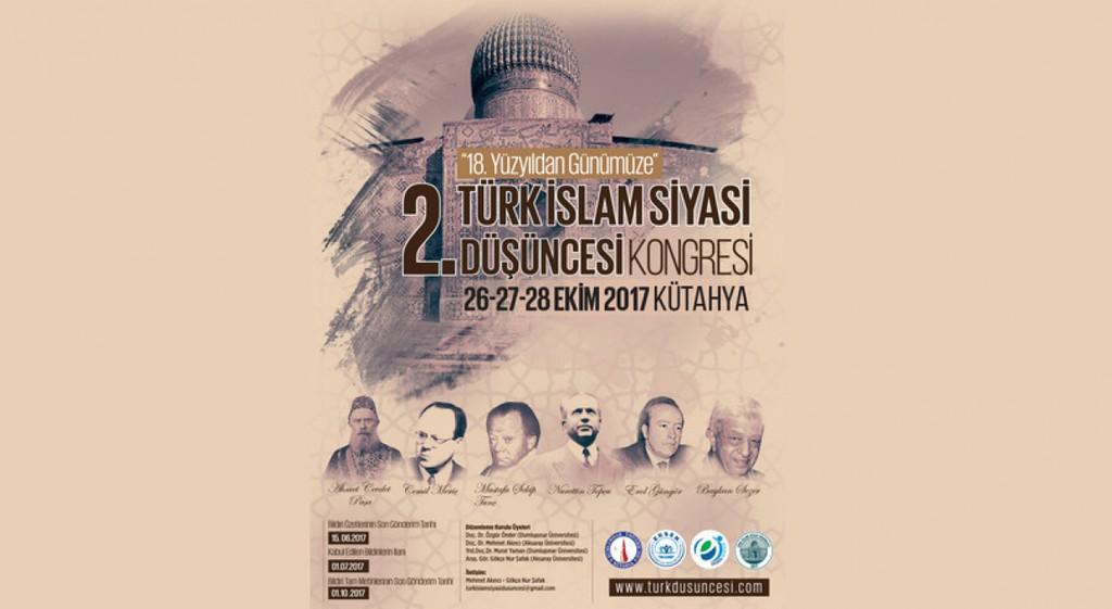 Türk İslam Siyasi Düşüncesi Kongresi'nin İkincisi Kütahya'da
