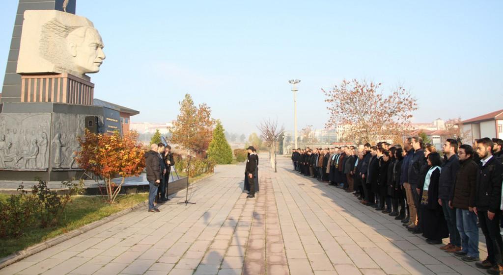 10 Kasım Mustafa Kemal Atatürk'ü Anma Töreni Gerçekleştirildi