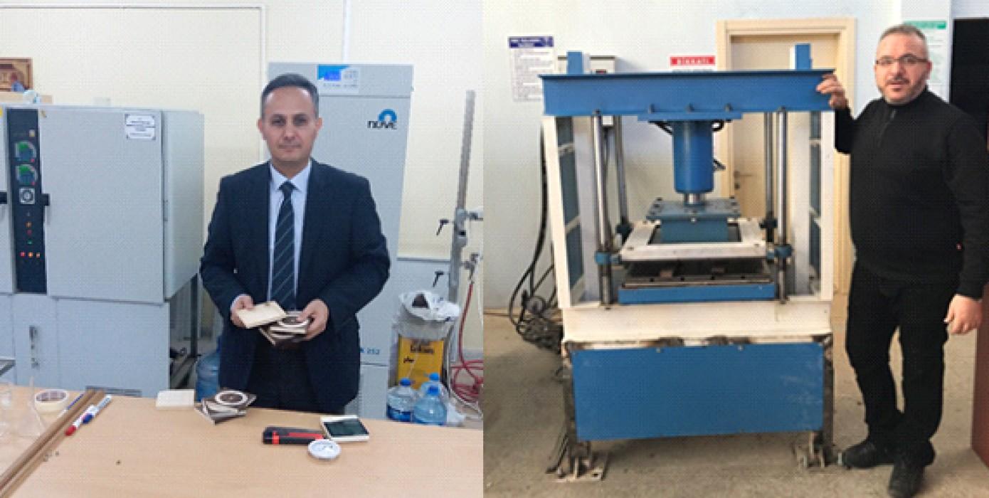 Prof. Dr. Mehmet Budakçı ve Öğr. Gör. Süleyman Şenol Ahşap Modifikasyonunda Yeni Yöntem ve Malzeme Geliştirdiler