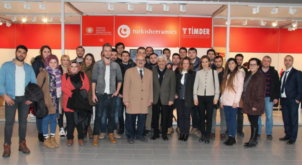 Üniversitemiz Malzeme Bilimi ve Mühendisliği Bölümü öğrencileri UNICERA Seramik ve Banyo Fuarına katıldı