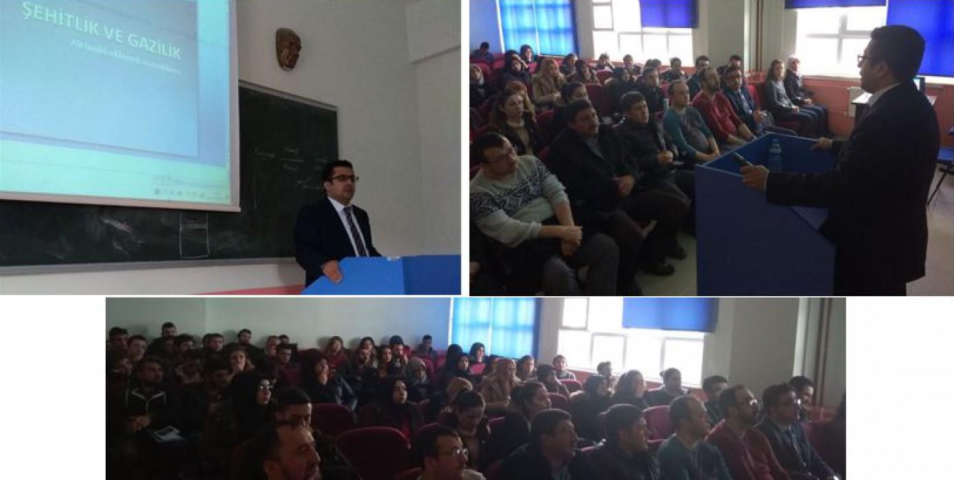 Meslek Yüksekokulumuzda 'Şehitlik ve Gazilik' Konulu Konferans