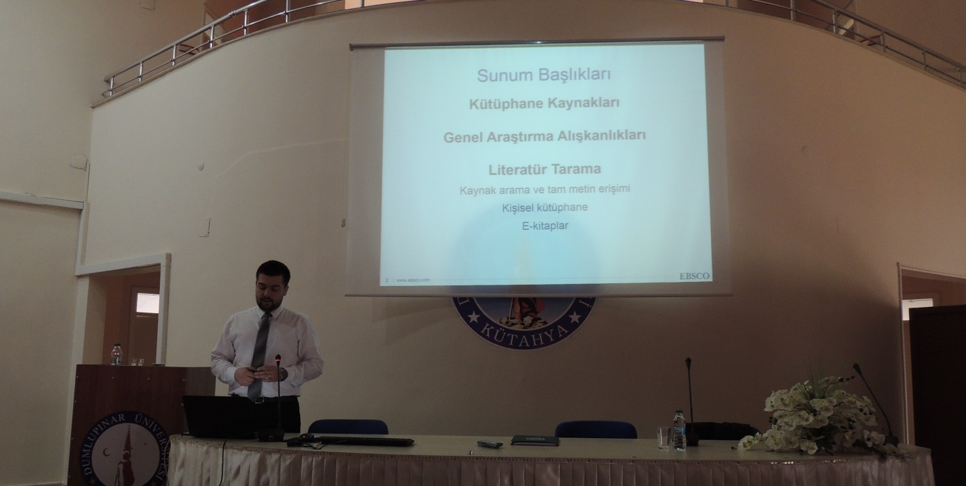 2018 Ebsco Veritabanları Kullanıcı Eğitim ve Bilgilendirme Semineri