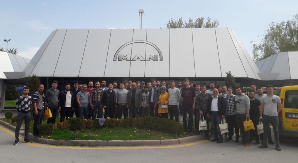 Man Otobüs Fabrikası ve Gazi Üniversitesi Teknoloji Fakültesi Teknik Gezisi