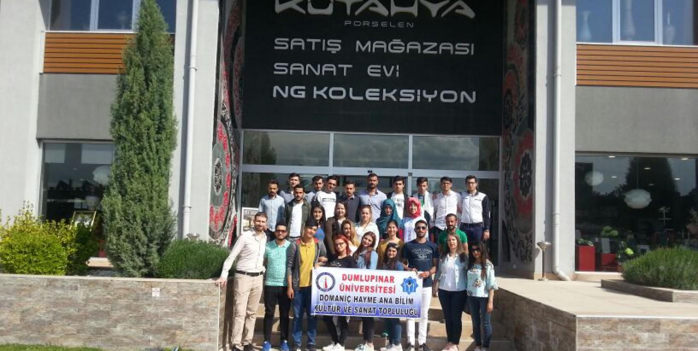 Domaniç Hayme Ana Myo, Mar-tur ve Ng Kütahya Seramik'e'e Teknik Gezi Düzenledi