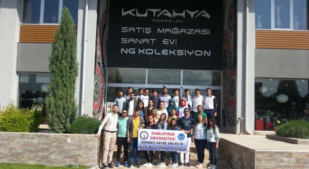 Üniversitemiz Domaniç Hayme Ana Meslek Yüksekokulu'nda, MAR-TUR ve NG KÜTAHYA SERAMİK' e teknik gezi düzenledi.