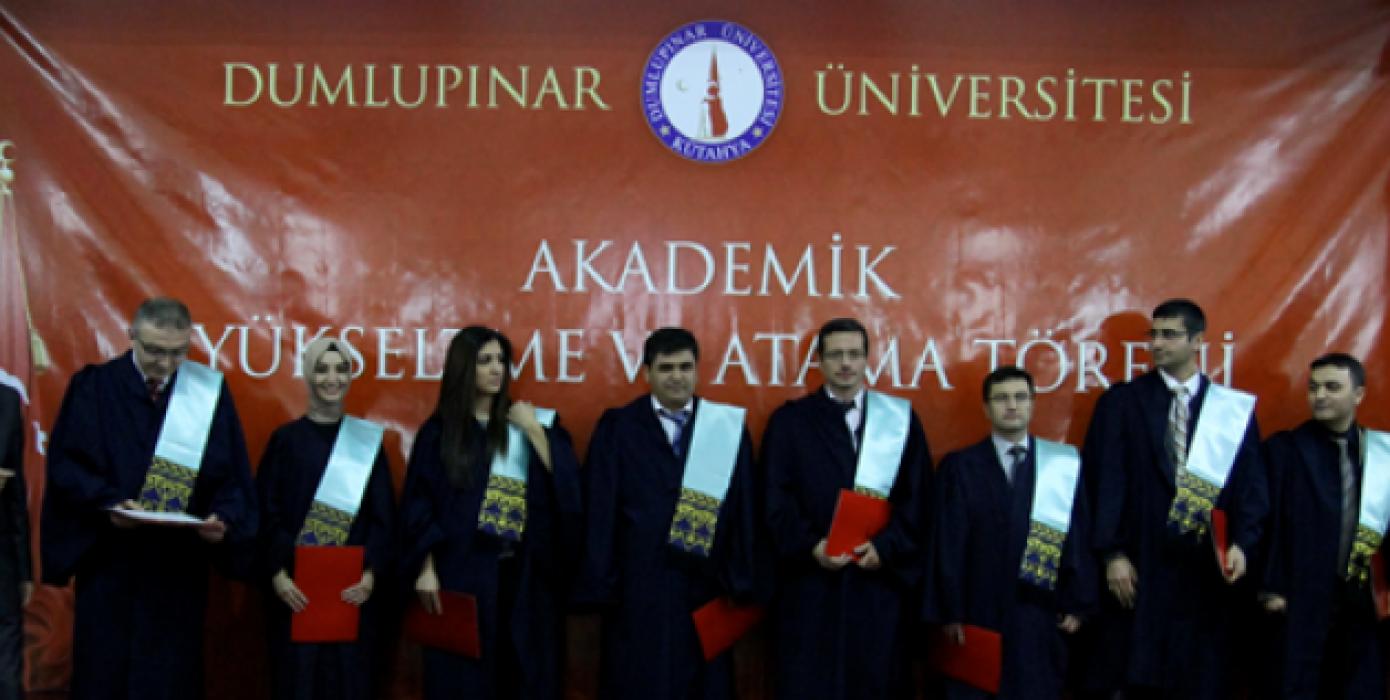 Üniversitemiz 2013-2014 Akademik Yükseltme ve Atama Töreni