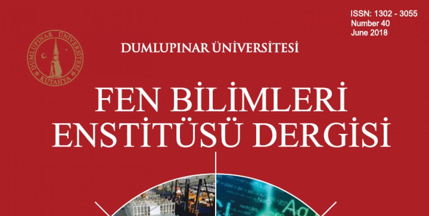 Fen Bilimleri Enstitüsü Dergisi Sayı: 40