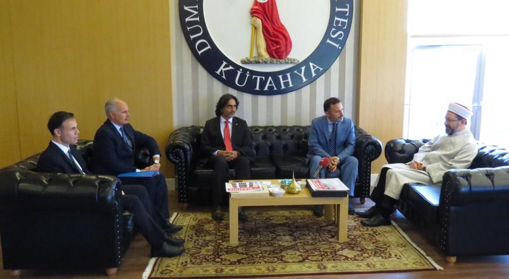 Diyanet İşleri Başkanı Erbaş'tan DPÜ'ye Ziyaret