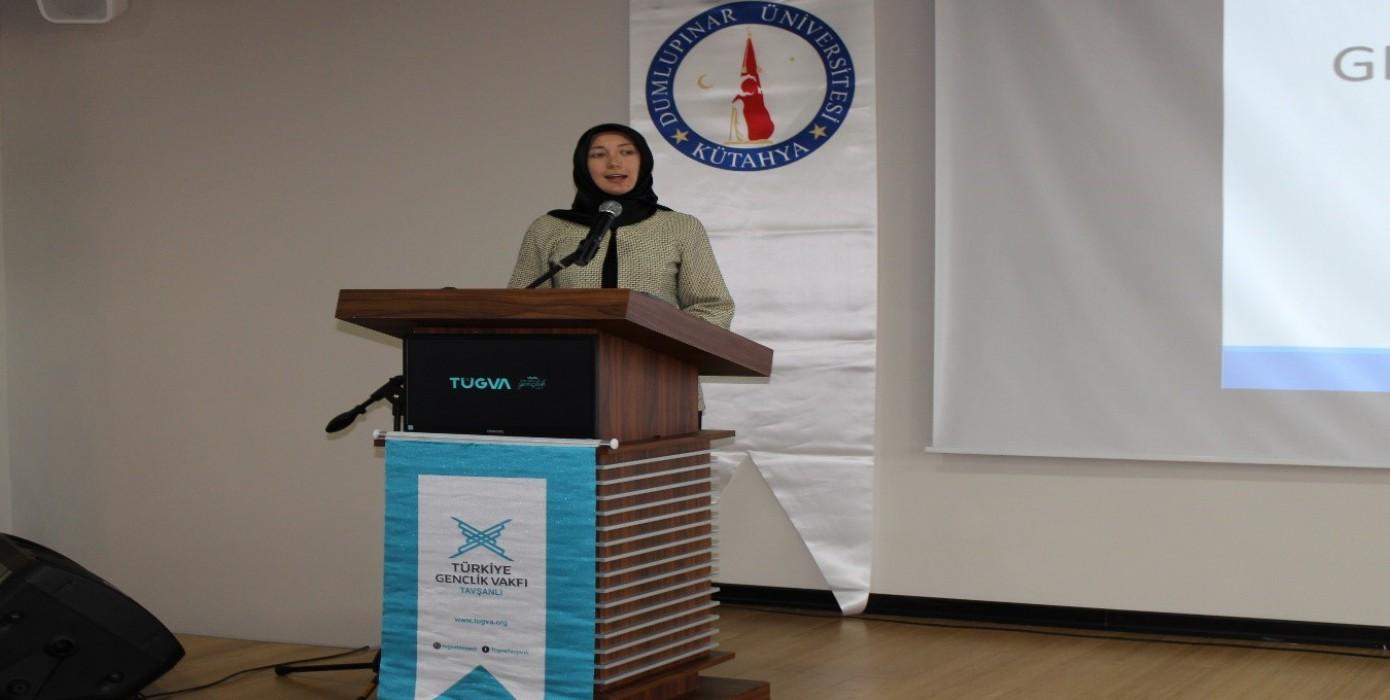 Türkiye Gençlik Vakfı Genel Başkan Yardımcısı Rabiya Kazak Tavşanlı'da Üniversite Gençliği ile Buluştu