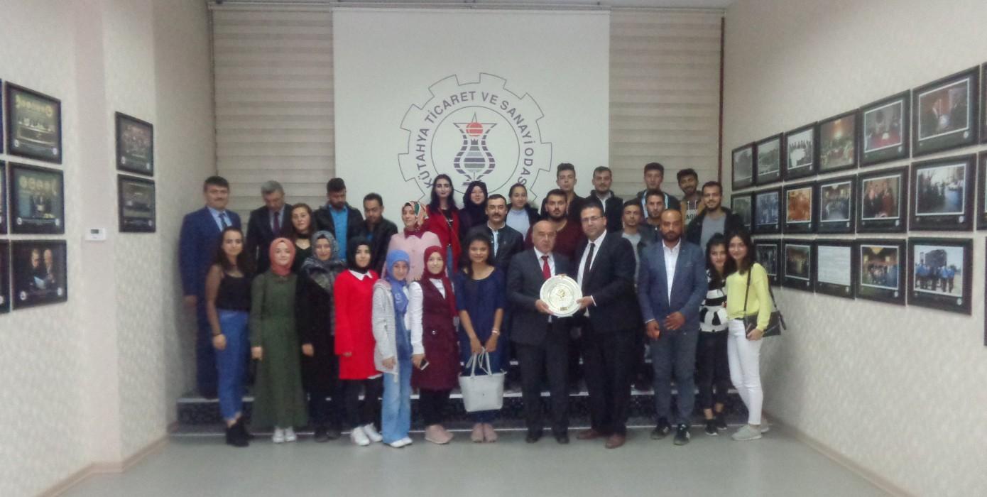 Meslek Yüksekokulumuz Öğrencilerinden Kütahya Ticaret ve Sanayi Odası (Kutso) Ziyareti