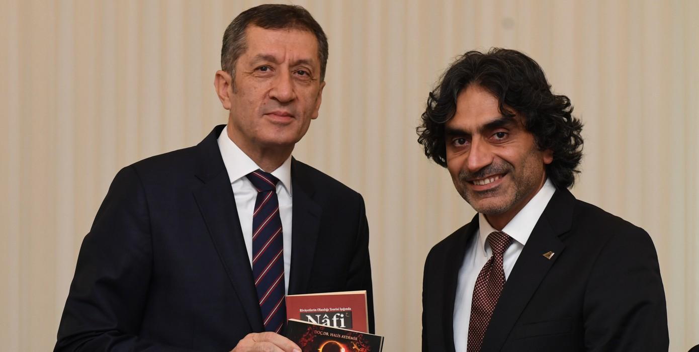 Dekanımız Prof. Dr. Halis Aydemir, Milli Eğitim Bakanımız Sayın Prof. Dr. Ziya Selçuk'u Ziyaret Etti.