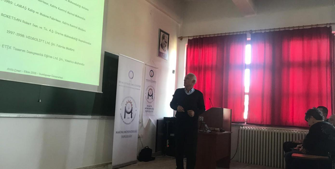 Bölümümüzde Geometrik Boyutlandırma ve Toleranslandırma Konferansı Verildi.