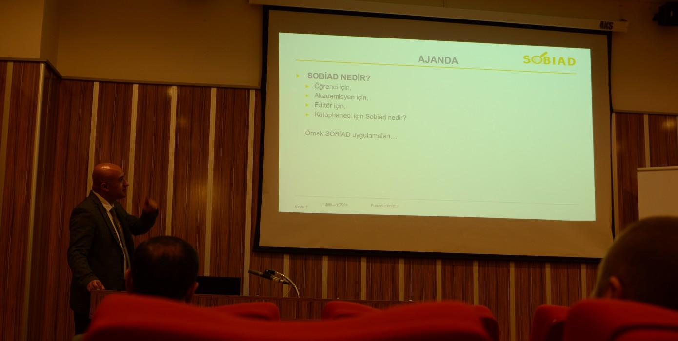 Kütüphanemizde Doç. Dr. Serdar Yavuz Tarafından Sobiad-sosyal Bilimler Atıf Dizini Kullanıcı Eğitimi Semineri Yapılmıştır