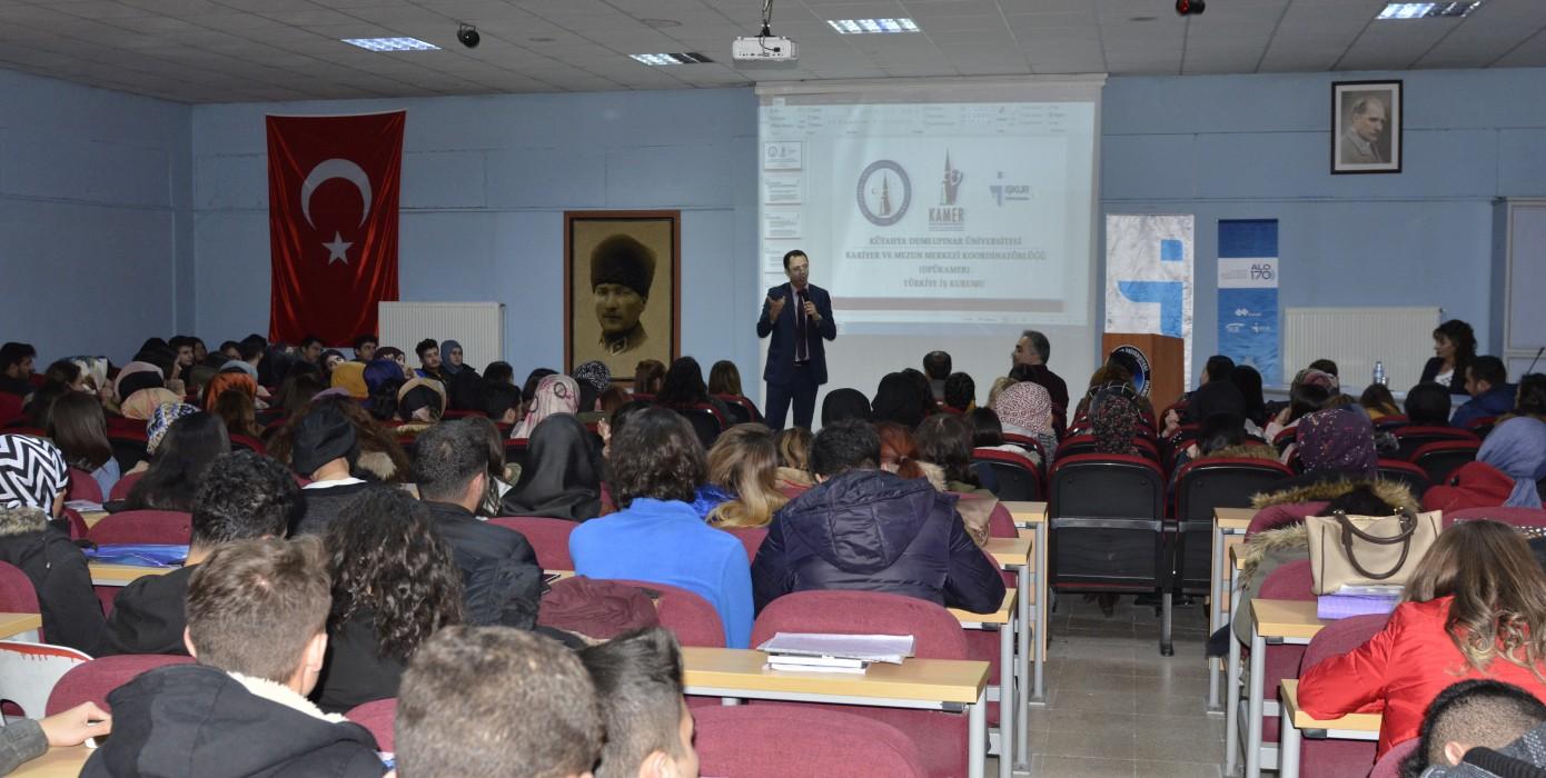 Dpü-kamer ve İŞKUR Ortaklığında Kariyer Eğitimleri Semineri