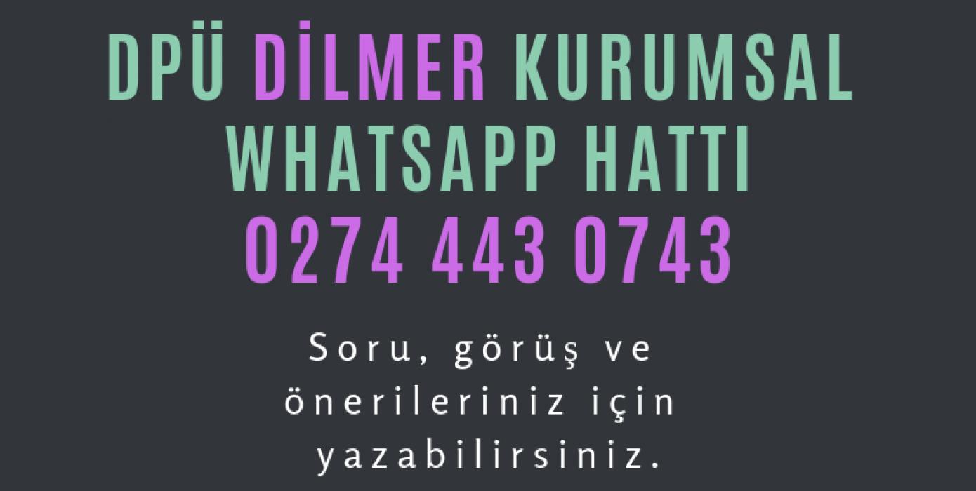 Dilmer Kurumsal Whatsapp Hattı
