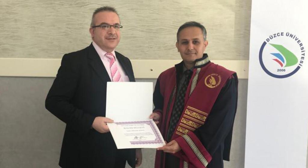 Dr. Süleyman Şenol Prof. Dr. Fuat Sezgin Yılı Tez Ödülü'nü Kazandı