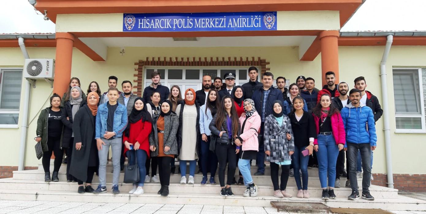 Meslek Yüksekokulumuz Öğrencilerinden İlçe Polis Merkezi'ne Ziyaret