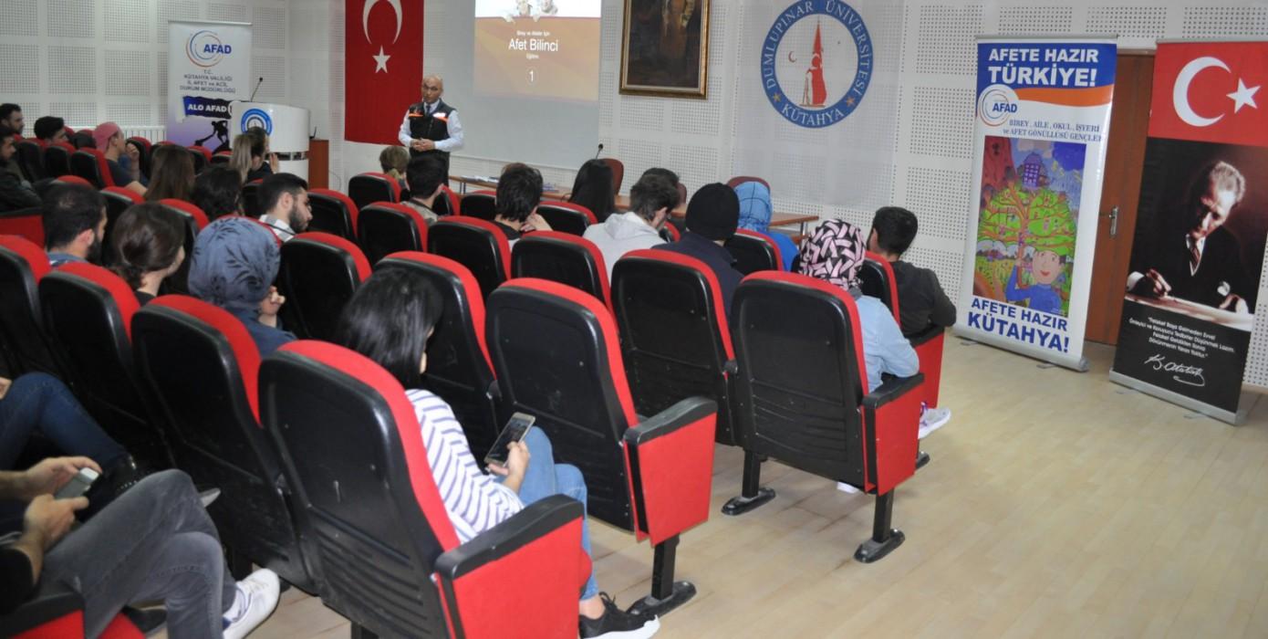 AFAD Kütahya Temel Afet Bilinci Konulu Eğitim Gerçekleşti