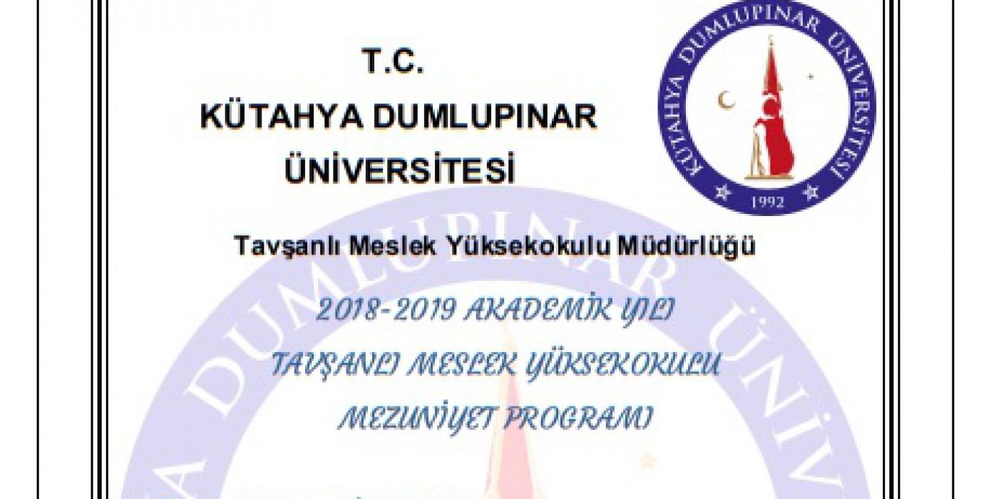 2018-2019 Mezuniyet Programı