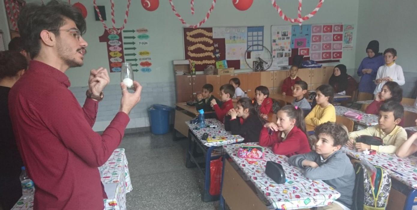 Kütahya Dumlupınar Üniversitesi Sosyal Sorumluluk Projeleri Yönetim Birimi ve Ieee Dumlupınar Ekibi İşbirliği ile Bilim Deneyleri Gerçekleştirildi