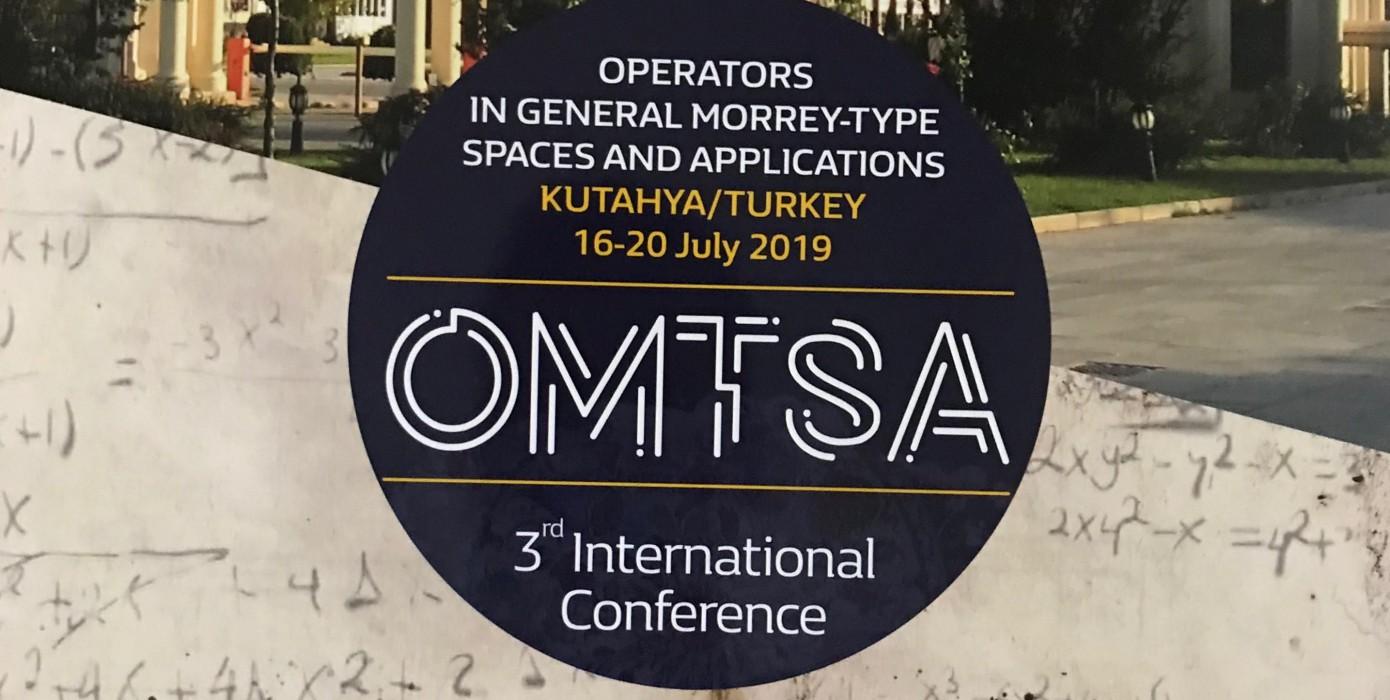 Bölümümüz 3. Uluslararası Omtsa2019 Konferansına Ev Sahipliği Yaptı.