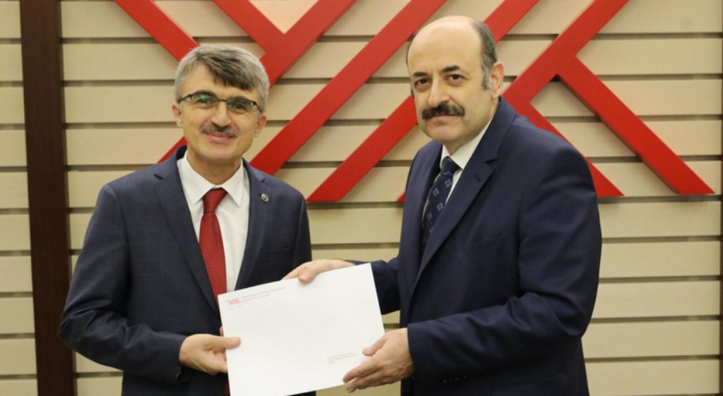 Our Rector Prof. Dr. Kazım Uysal Receives The Certificate Of Election