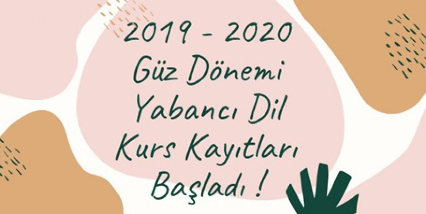 2019-2020 Güz Dönemi Yabancı Dil Kursları