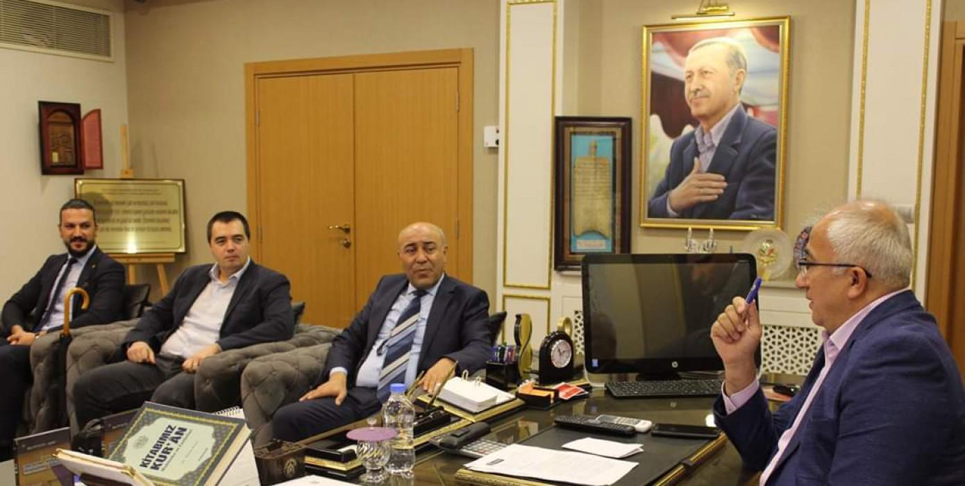Fakültemiz Dekanı Prof. Dr. Ahmet Ağca, Tavşanlı Belediye Başkanı Mustafa Güler'e İade-i Ziyaretde Bulundu