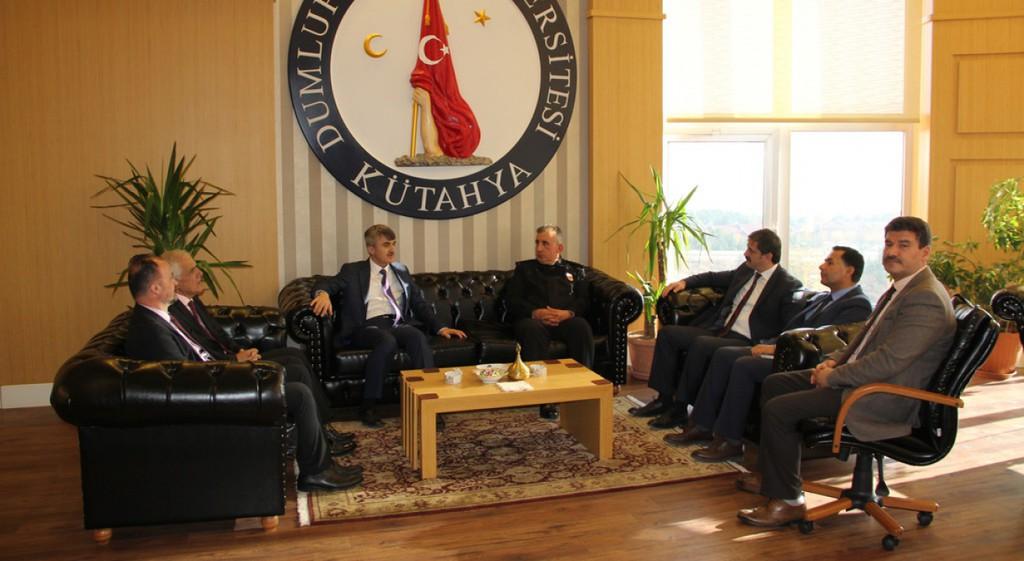 Mustafa Çekiç ve Necmettin Koç'tan Rektörümüze Ziyaret