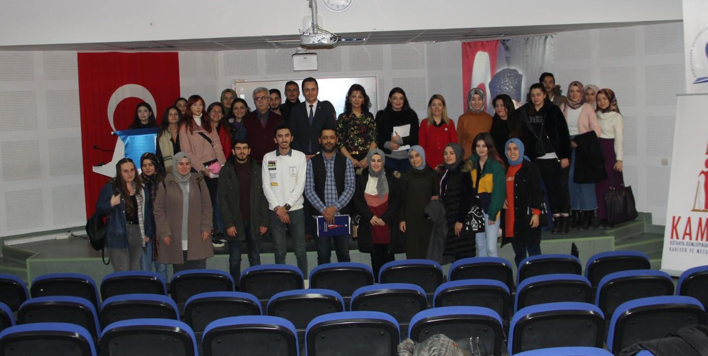 17 Aralık 2019 Tarihinde Eğitim Fakültesi İŞKUR ile Beraber Düzenlediğimiz Kariyer Eğitimleri Seminerimiz.