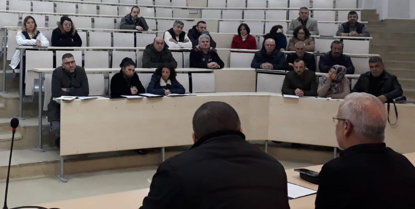 2019-2020 Eğitim Öğretim Yılı Bahar Dönemi 1. İdari Kurul Toplantısı Gerçekleştirildi