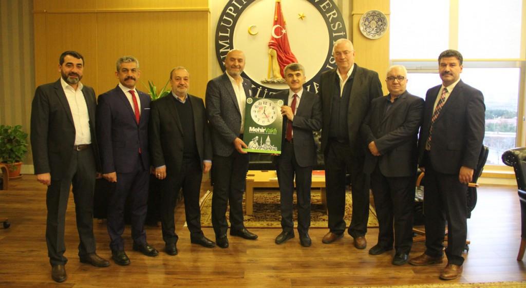 Poçanoğlu ve Özdemir'den Rektörümüze Ziyaret