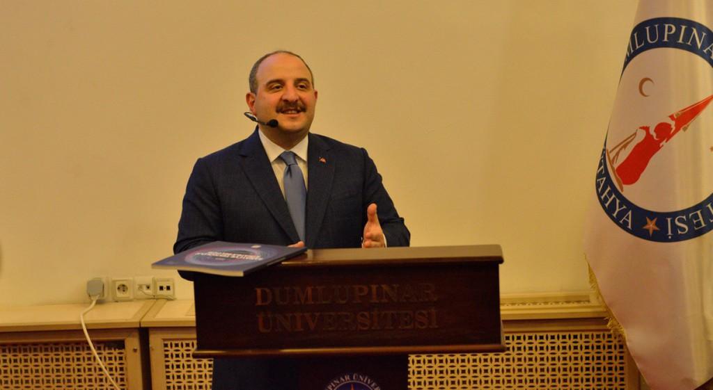 Sanayi ve Teknoloji Bakanı Mustafa Varank DPÜ'de