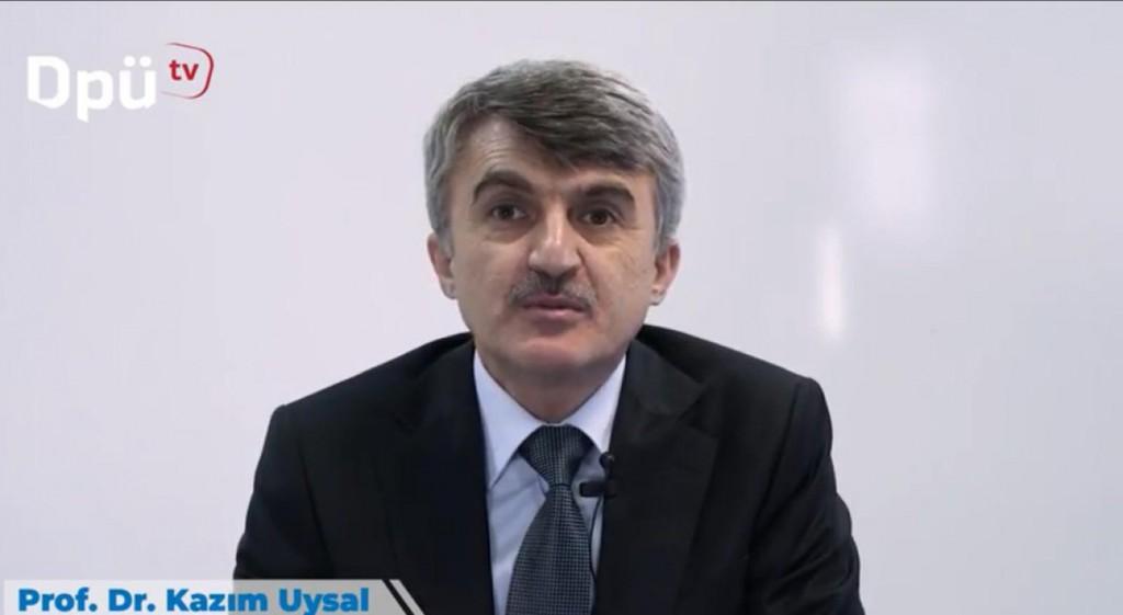 Uzaktan Eğitimde İlk Ders Prof. Dr. Kazım Uysal'dan