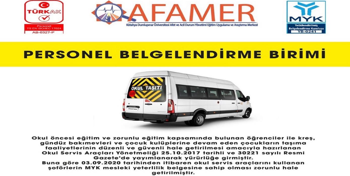 Afamerper Orman Üretim ve Servis Aracı Şoförü Sınavlarına Başlamıştır.