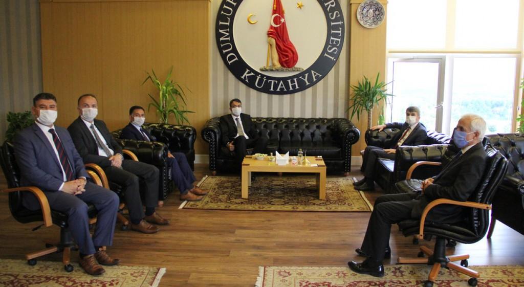 Kütahya Valisi Ali Çelik'ten Rektörümüze Ziyaret